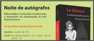 Grande evento - Lançamento do livro da atriz ROSSANA GHESSA